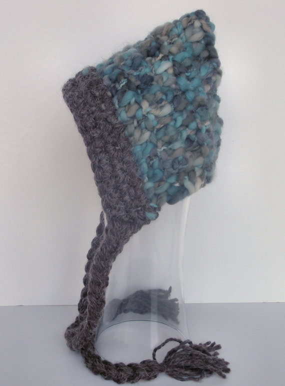 ... Thick and Thin Merino Yarn Crochet Hat Photo Prop. $30.00, via Etsy