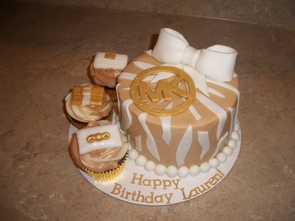Michael Kors Cake-- 26th birthday cake for me with different colors? I THINK YES