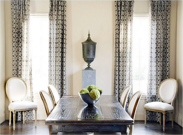 louis chairs bold drapes neutrals dining rooms pinterest