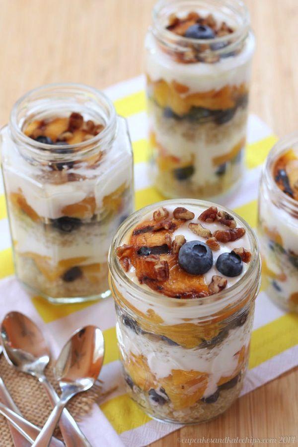 Mango Breakfast Parfait With Cherry-Banana Soft Serve ...