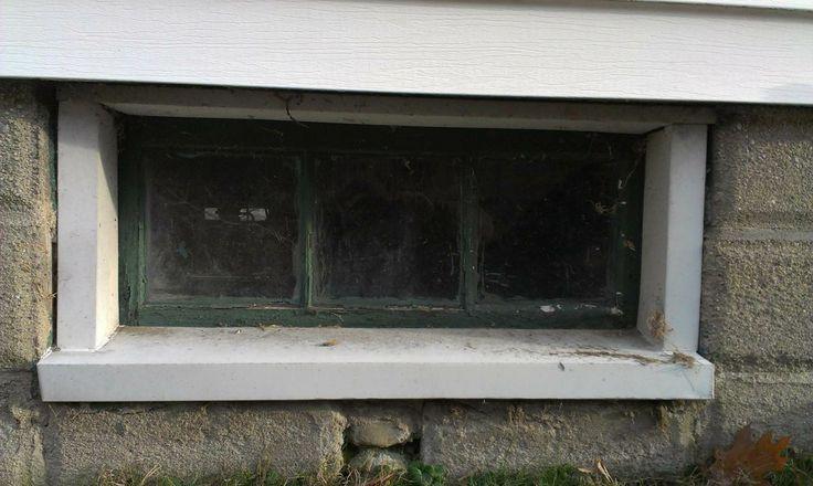 basement window outside gas meter 36 3 8 x 16 7 8 in concrete