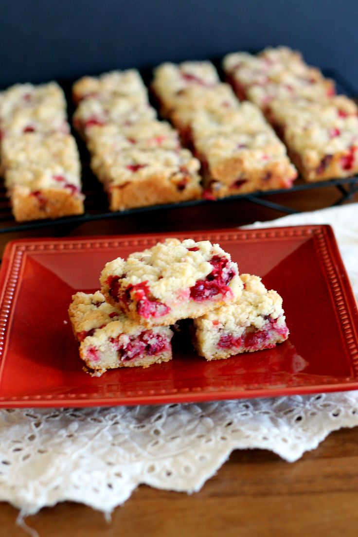 Cranberry Crumb Bars | These easy bars are sweet, tart, and delicious ...