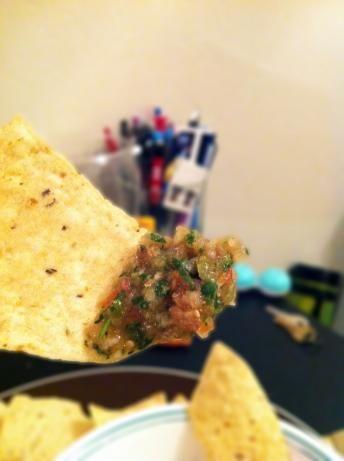 Chipotle Grill Inspired Tomatillo-Green Chili Salsa | Recipe