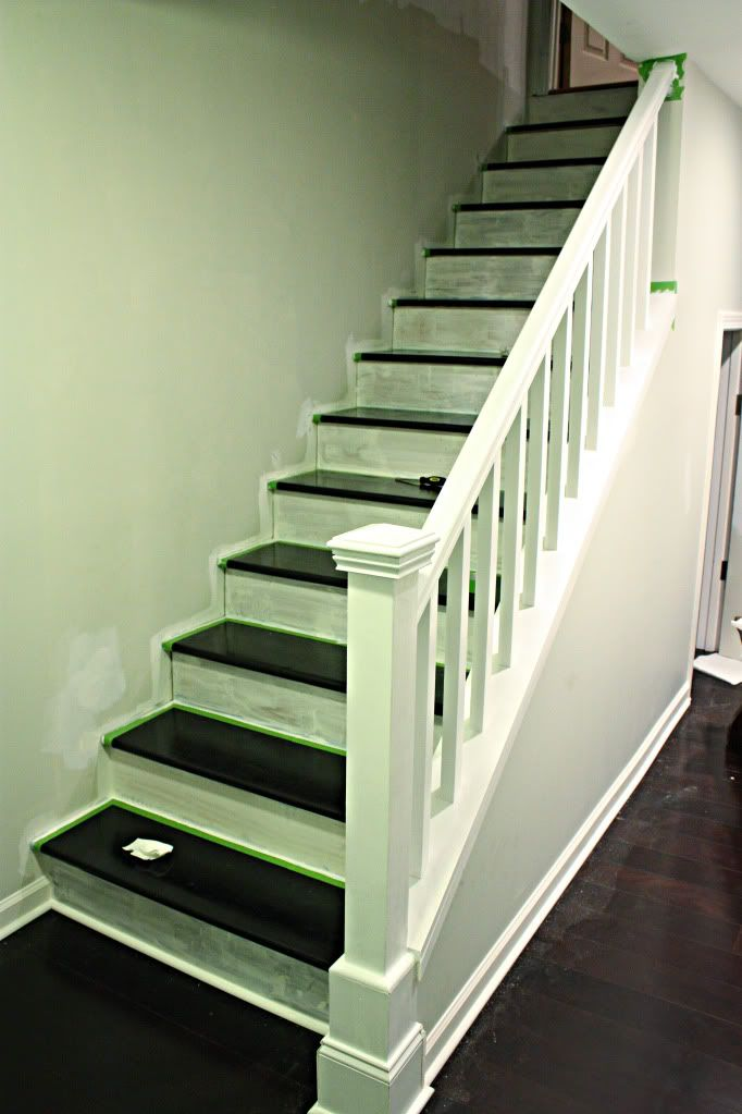 Basement stairway redo ideas for around the house pinterest - Basement stair ideas pinterest ...