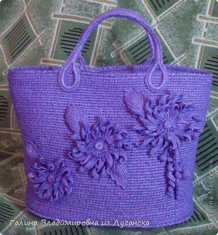 Вязание из пакетов крючком сумок 142