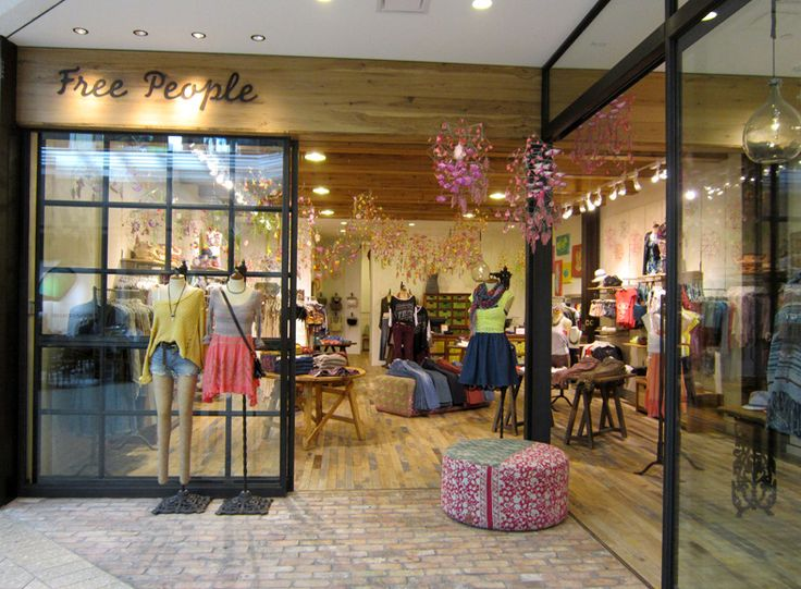 Free people store fashion shops store fronts pinterest for Free people store decor