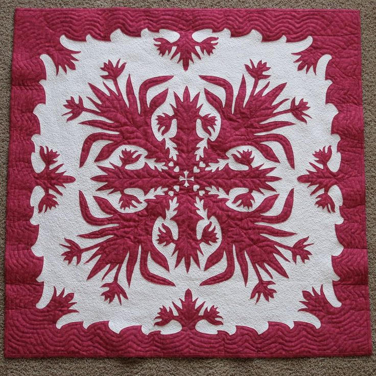 Hawaiian Flower Pattern Hawaiian Quilt Block Patterns