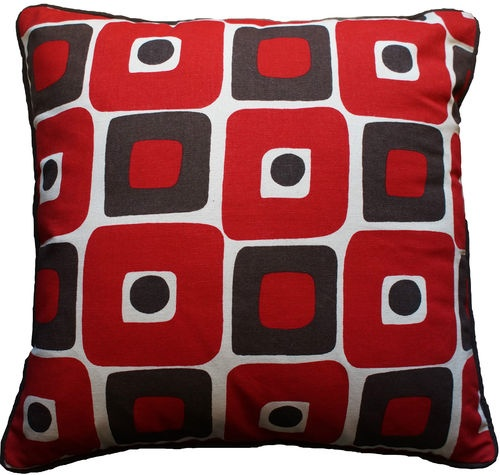 Red Tan And Brown Throw Pillows : Modern Red Brown Natural Retro Decorative Throw Pillow Toss Cushion 1?