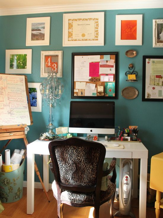 Feminine Office Design, Pictures, Remodel, Decor and Ideas