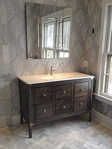 Metal French Country Bathroom Vanity Bathroom Reno