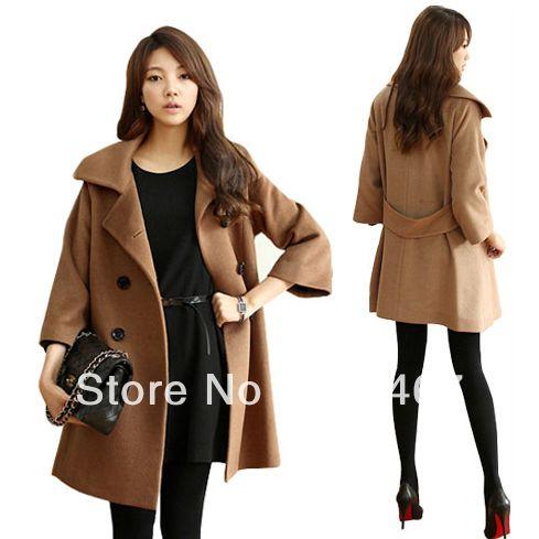 2013 new autumn and winter women cashmere coat woolen