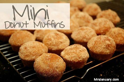 Mini Donut Muffins | Secret | Pinterest