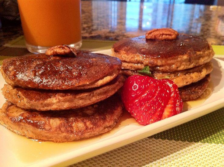 Paleo Banana Pecan Pancakes | PFC=BALANCED PROTEIN, FAT, CARBS | Pint ...