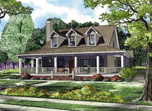 Country farmhouse southern house plan 62032 for Southern country house plans