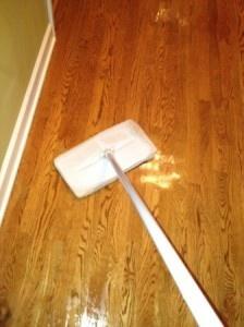 Cleaning hard wood floors w/ shine