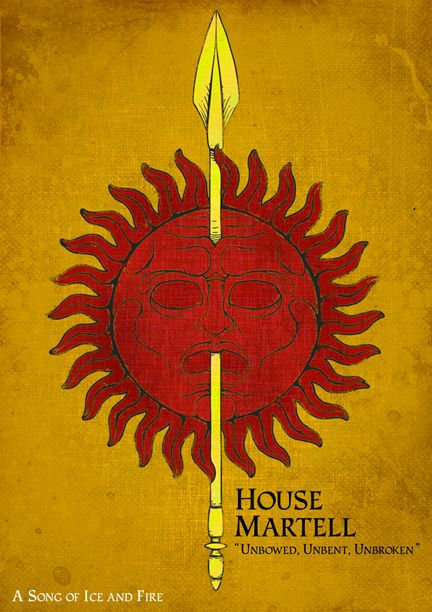 game of thrones martell tattoo