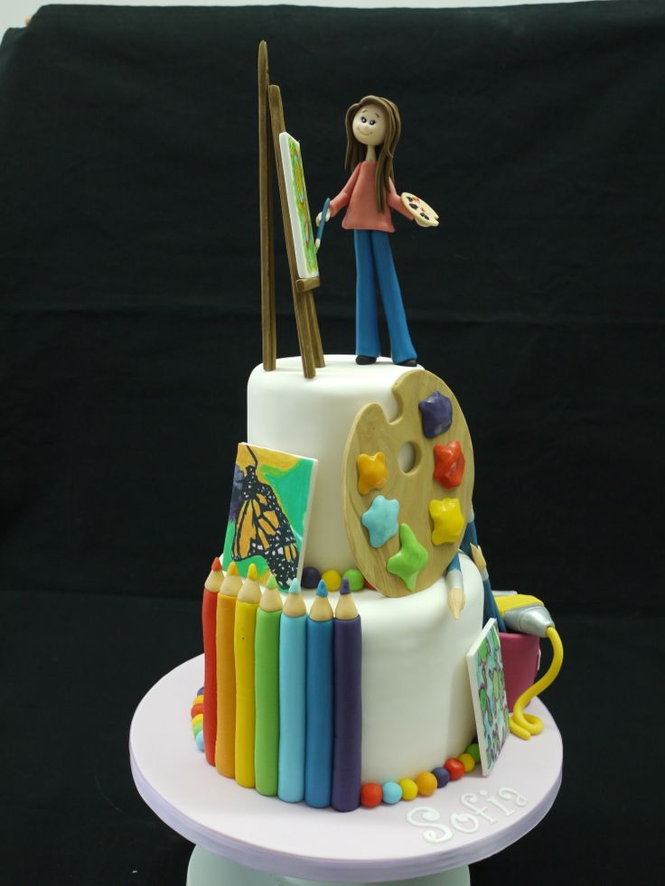 Artist cake - Artists cake Cakes for Girls Pinterest