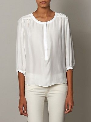 White Silk Blouse Ebay 45