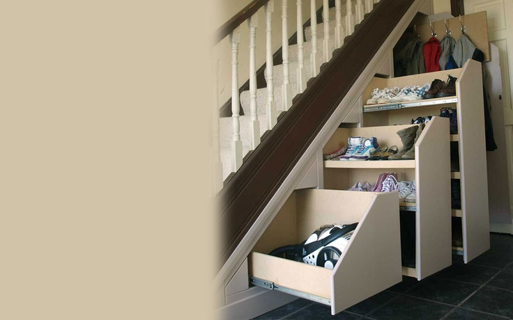Want this under stair pull out storage the shoe rack is a great
