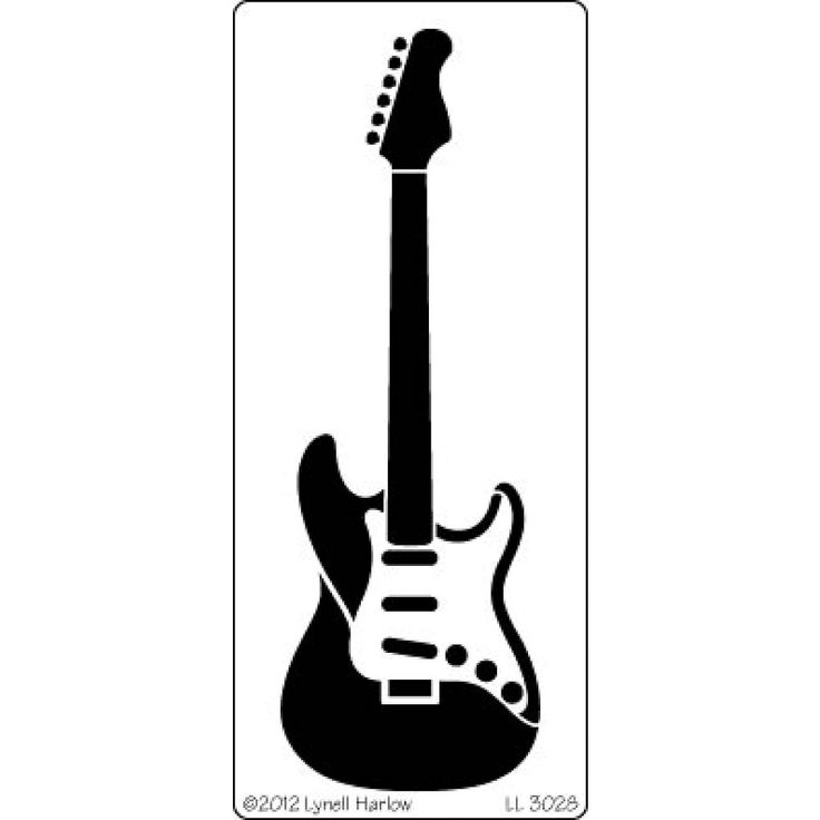 Electric Guitar Stencil Guitar Stencil Image Google