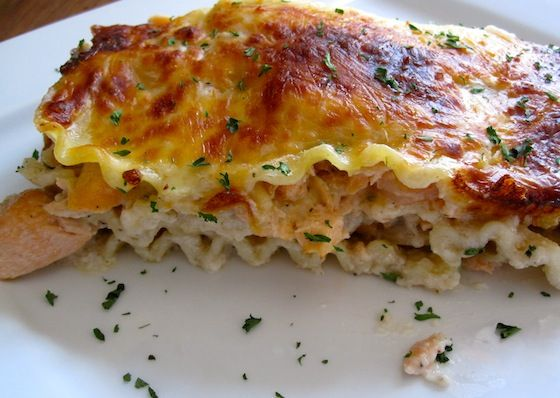 Seafood Lasagna (Lasaña Marinera) Made 11/22/12. Added crab meat. JKW ...