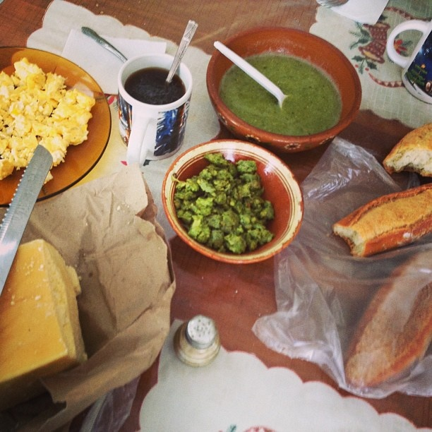 Mexican breakfast: Fresh cheese, eggs, bread, green chorizo, homemade ...