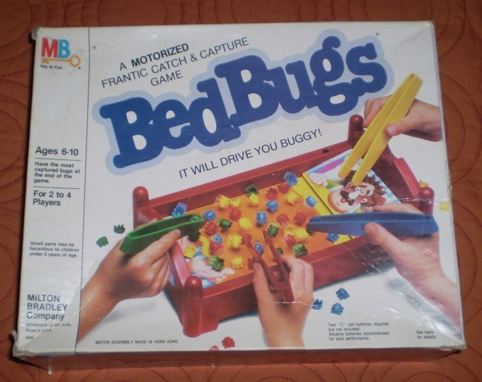 1985 Bed Bugs Game By Milton Bradley