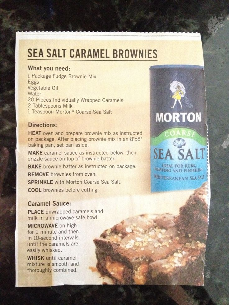 Sea salt caramel brownies | Desserts | Pinterest
