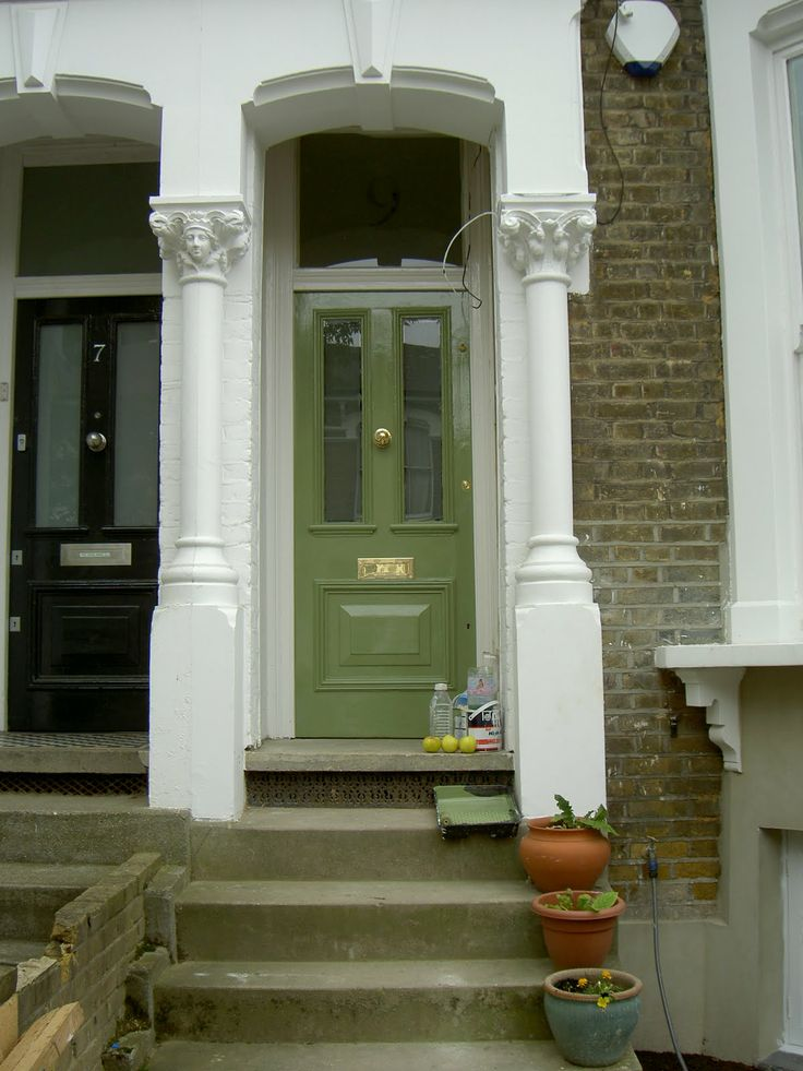 Olive Green Front Door Google Search Home Pinterest