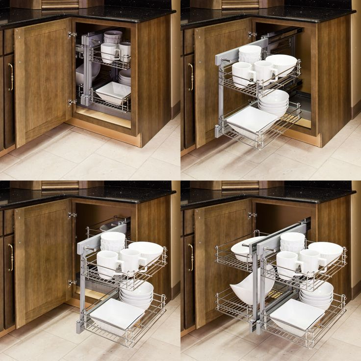 Show Hand Metal Pull Out Unit For Blind Corner Cabinet Kitchen