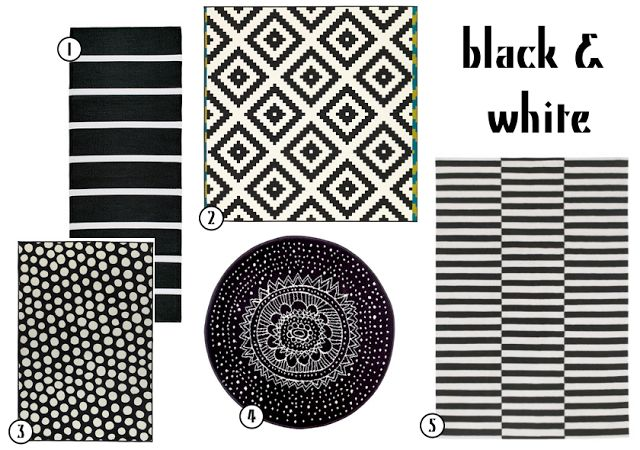 Black White Rugs From Ikea Pieces Elements Pinterest