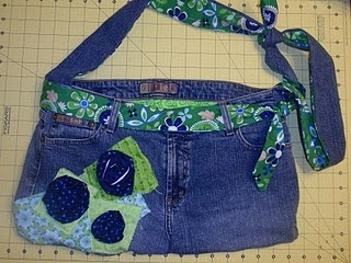 Jean purse.  I have been holding jeans to do this.