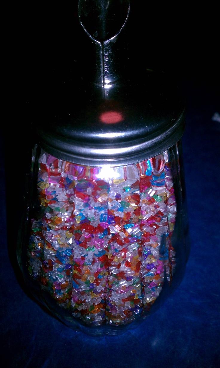 The sugar shaker at Peppermill Restaurant