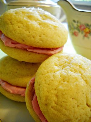Bake It With Booze!: Limoncello Raspberry Cream Sandwich Cookies