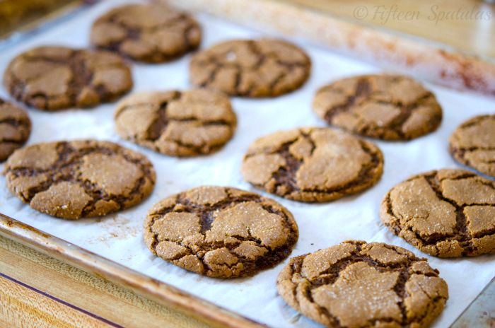 Ginger Molasses Crinkle Cookies   Cookie Jar   Pinterest