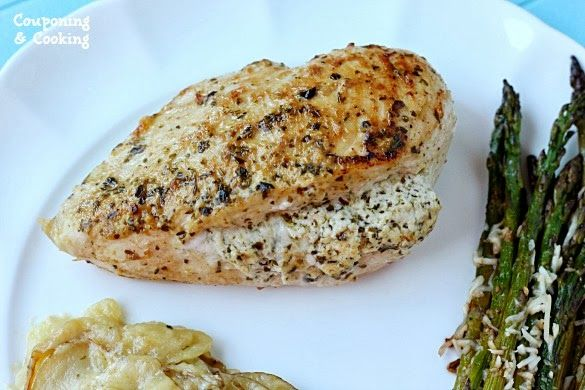 ... Pesto Stuffed Chicken With Easy Scalloped Skillet Potatoes {#