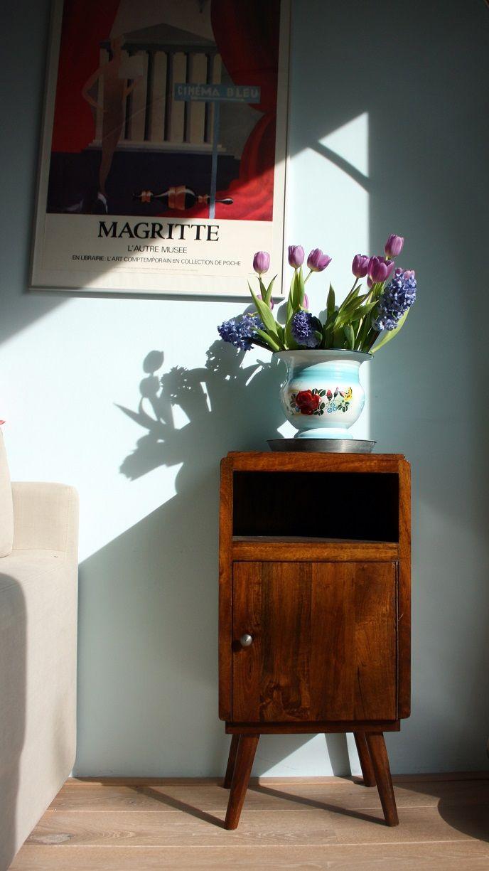 Mooi vintage kastje van mango hout van House Doctor.