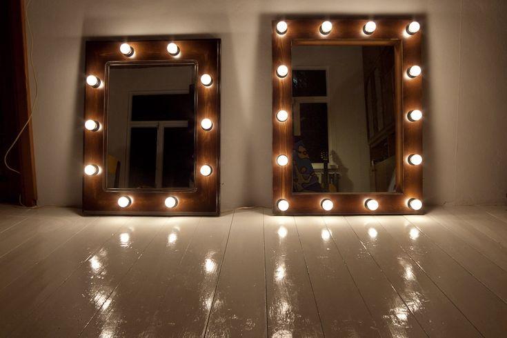 Гримерное зеркало с подсветкой своими руками 88
