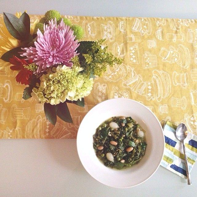 Spring Green Minestrone Soup   #PlatedPics   Pinterest