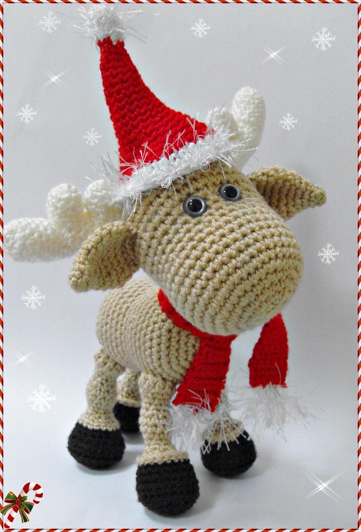 Christmas Reindeer Amigurumi : Amigurumi Geyik ve Kardan Adam Amigurumi Navidad Pinterest