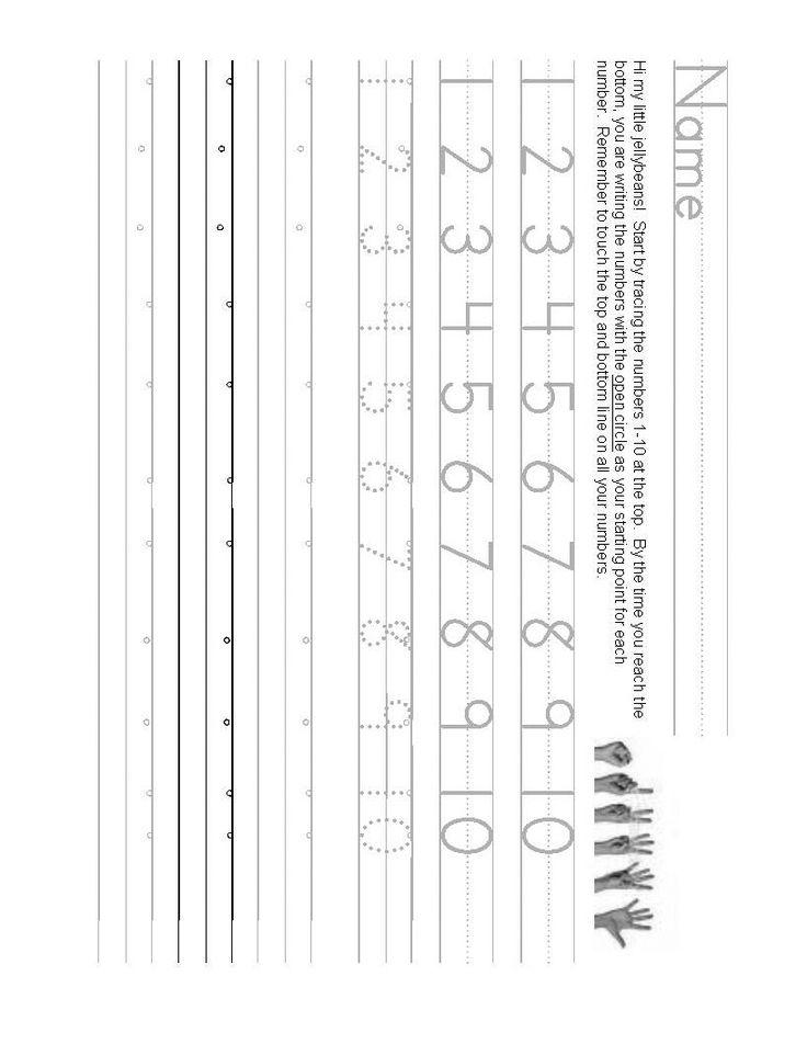Number writing worksheet 1-10