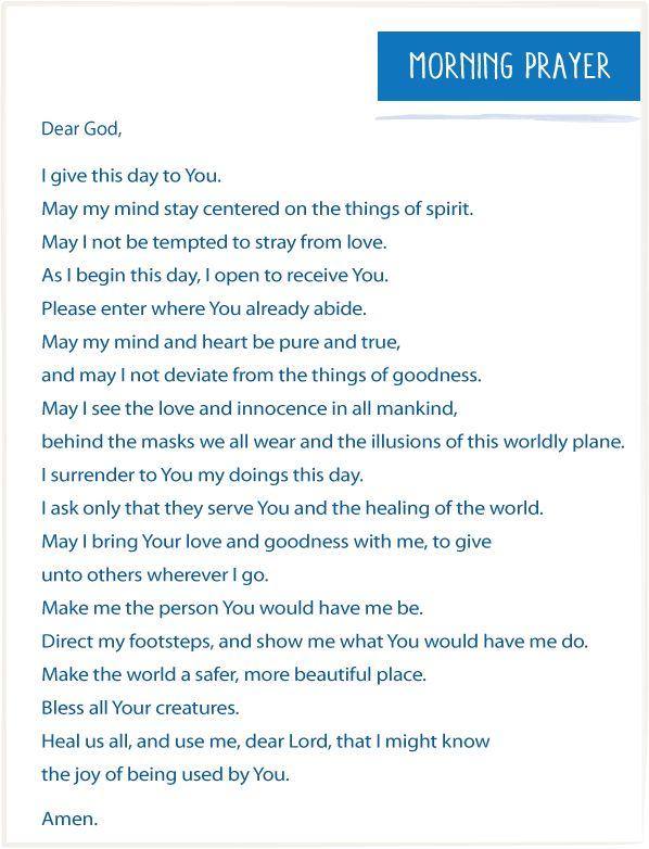 Morning Prayer By Marianne Williamson Spirit Pinterest