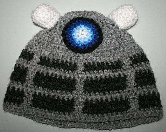 Knitting Pattern For Dalek Hat : Dr Who Dalek Inspired Hand Made Crochet Hat
