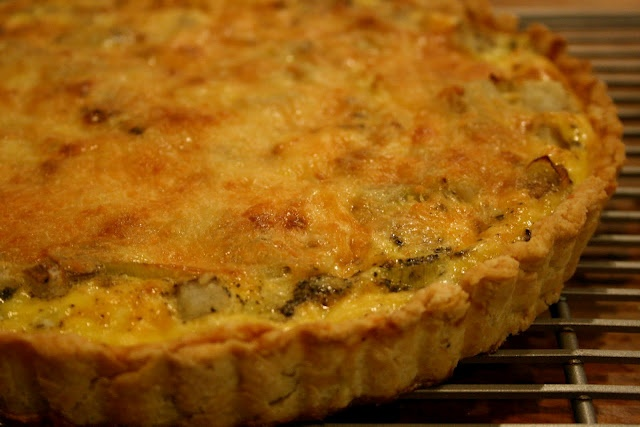 Leek and Potato Quiche » A Thought For Food
