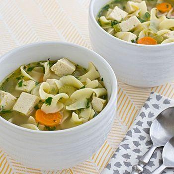 Vegetarian Chicken Noodle Soup | Vegetarian Kitchen | Pinterest