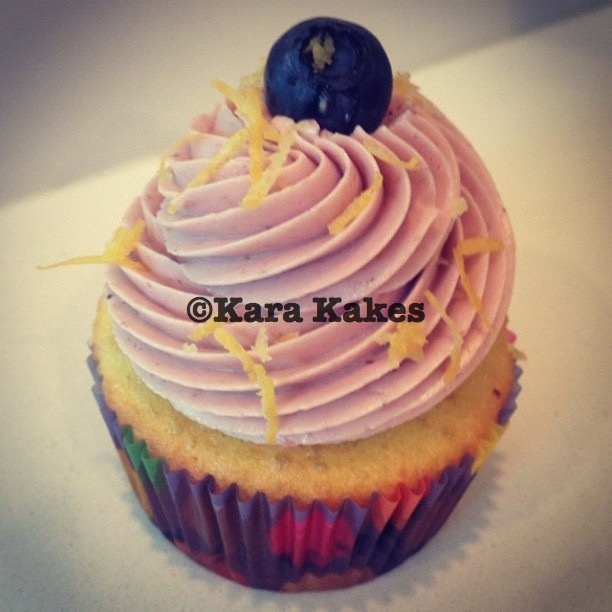blueberry buttercream #cupcakes #cupcake #blueberry #lemon #fruit ...