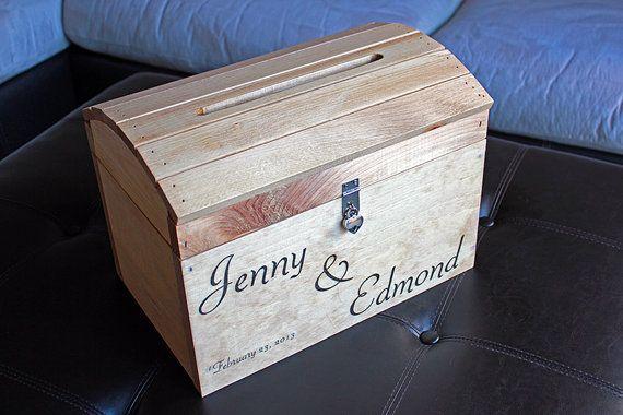 Custom Large Wedding Card Box With Heart Lock
