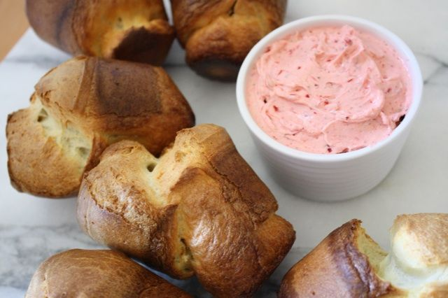Popovers with Lemon Verbena Strawberry Butter