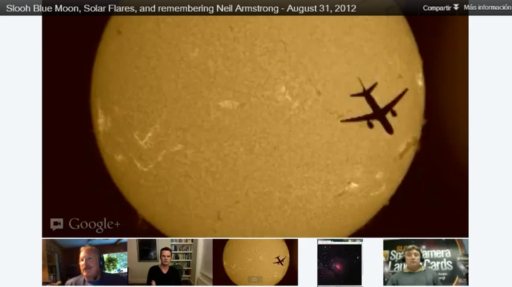 Slooh captured a jet flying past our live solar feed on August 31, 2012. You can see a video of it on our Interesting Celestial Videos board.
