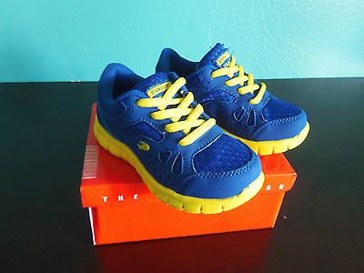 Super Lightweight Toddler Boys Tennis Shoes Blue & Yellow color